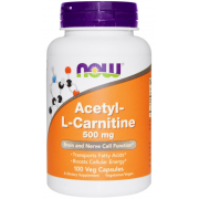 NOW  ACETYL L-CARNITINE 500 MG 30 КАПС