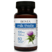 BIOVEA  MILK THISTLE 100MG 60 VEG CAPS (для печени)