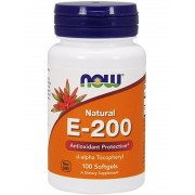 VITAMIN E-200 MIXED TOCOPHEROLS 100 ГЕЛ.КАПС. (NOW)